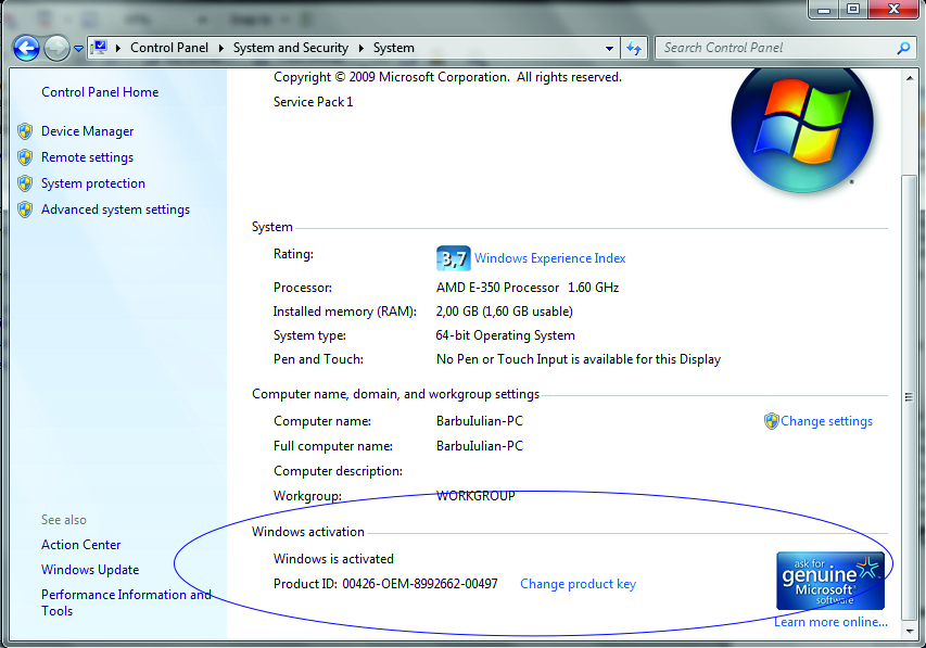 Activarea la Windows 7 ca sa nu expire in 30 de zile (4/5)
